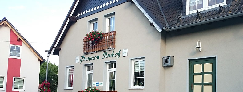 Die Pension Ilmhof in Bad Berka.